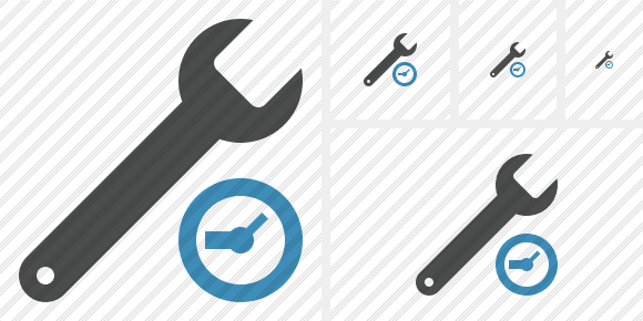 Spanner Clock Icon
