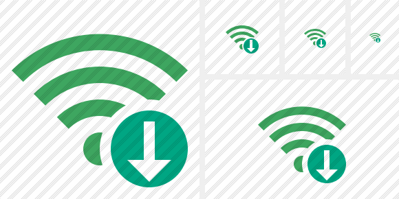 Wi Fi Green Download Icon