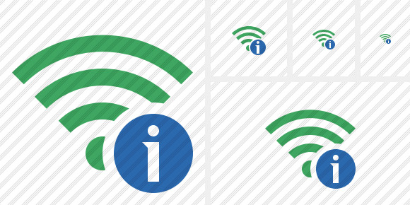 Wi Fi Green Information Icon