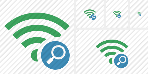 Wi Fi Green Search Icon