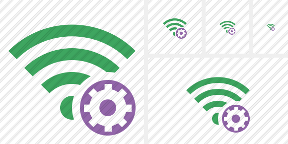 Wi Fi Green Settings Icon