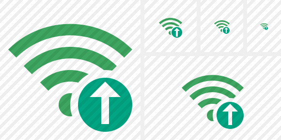 Wi Fi Green Upload Icon