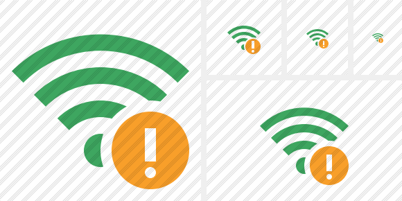 Wi Fi Green Warning Icon