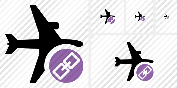 Airplane Horizontal Link Icon