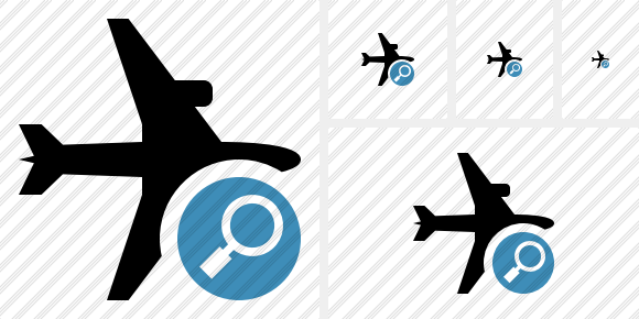 Airplane Horizontal Search Icon