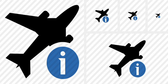 Airplane Information Icon