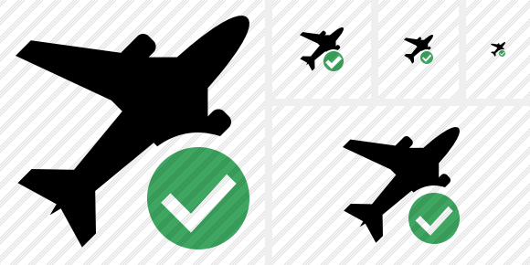 Airplane Ok Icon