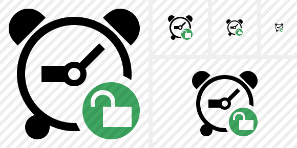 Alarm Clock Unlock Icon