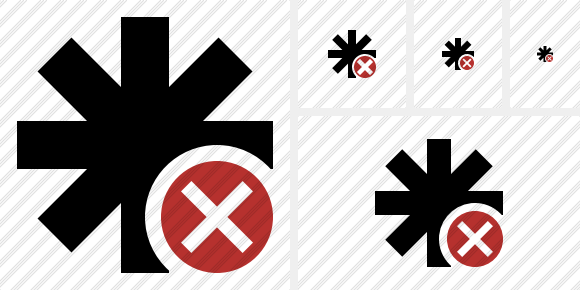 Asterisk Cancel Icon
