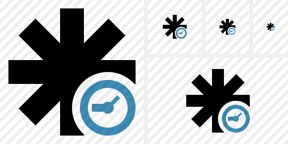 Asterisk Clock Icon