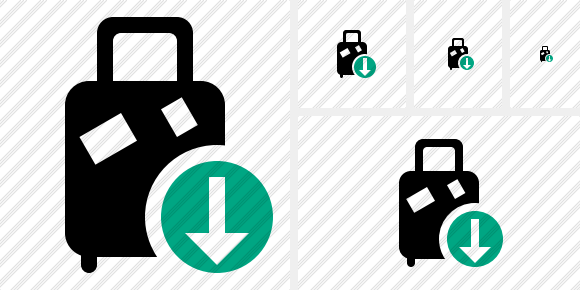 Baggage Download Icon