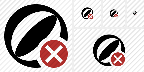 Beach Ball Cancel Icon