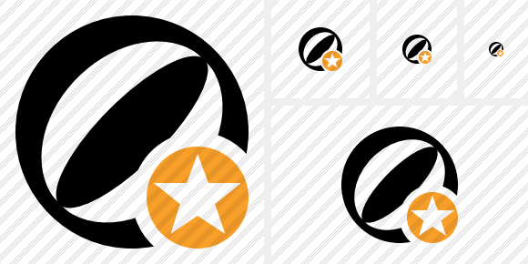 Beach Ball Star Icon