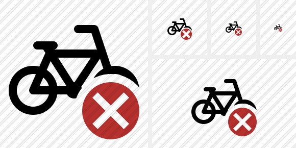 Bicycle Cancel Icon