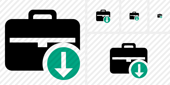 Briefcase Download Icon