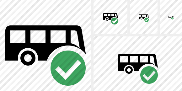 Bus Ok Icon