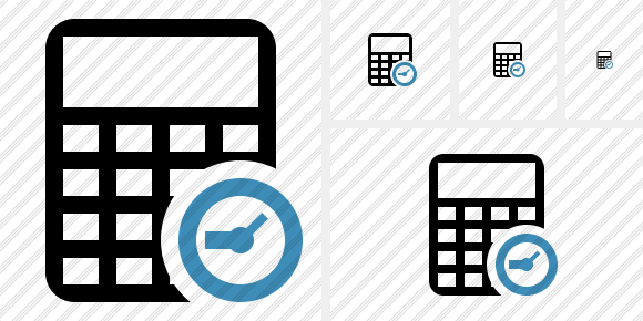 Calculator Clock Icon