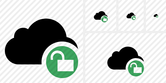 Cloud Unlock Icon