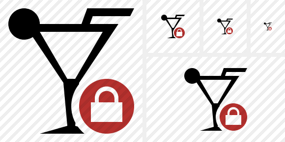Cocktail Lock Icon