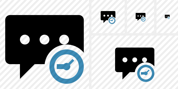 Comment Clock Icon