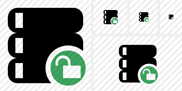 Database Unlock Icon