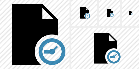 Document Blank Clock Icon