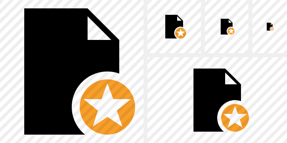 Document Blank Star Icon