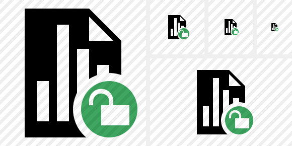 Document Chart Unlock Icon