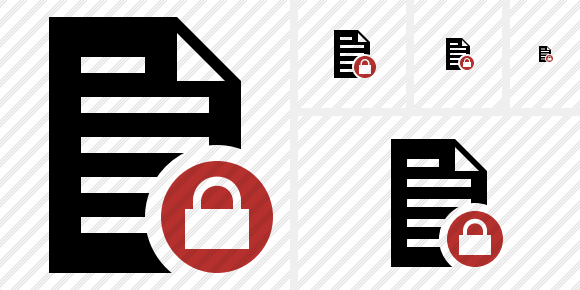 Document Lock Icon