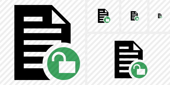 Document Unlock Icon