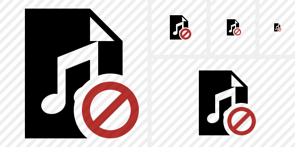 File Music Block Icon