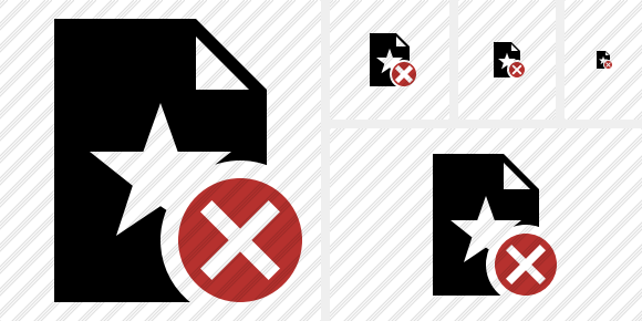 File Star Cancel Icon