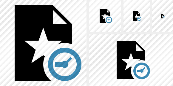 File Star Clock Icon