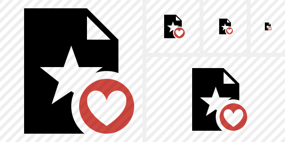 File Star Favorites Icon