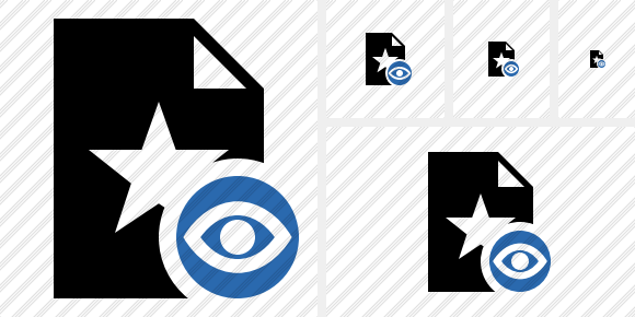 File Star View Icon