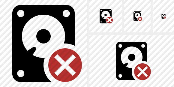 Hard Drive Cancel Icon