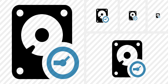 Hard Drive Clock Icon