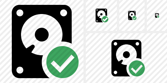 Hard Drive Ok Icon