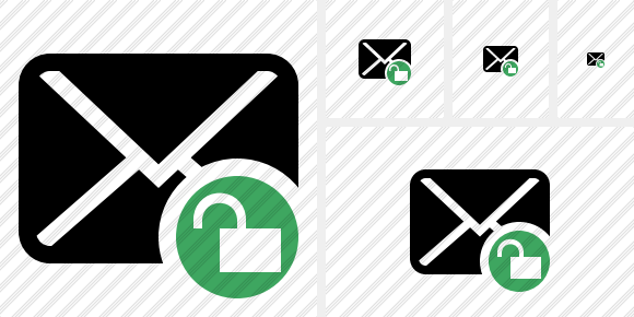 Mail Unlock Icon