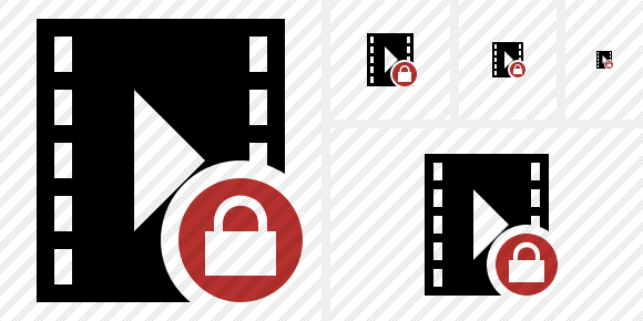 Movie Lock Icon