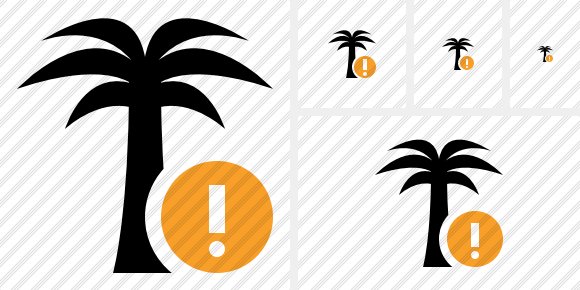 Palmtree Warning Icon
