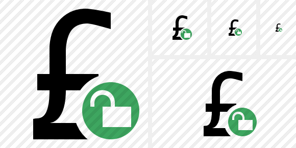 Pound Unlock Icon
