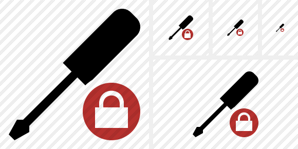 Screwdriver Lock Icon