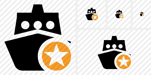 Ship 2 Star Icon