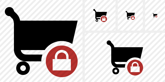 Shopping Lock Icon