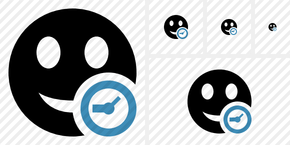 Smile Clock Icon