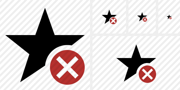 Star Cancel Icon