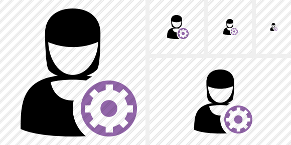 User Woman Settings Icon