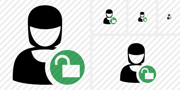 User Woman Unlock Icon