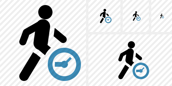 Walking Clock Icon